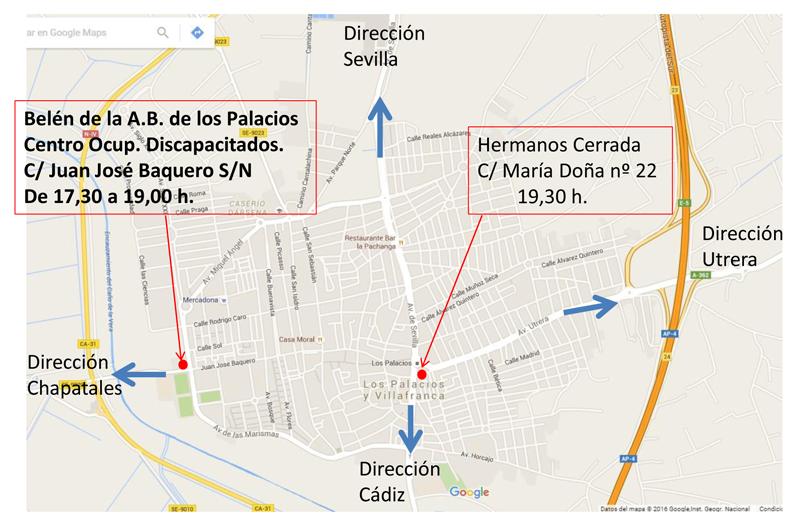 Mapa Los Palacios